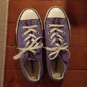 Purple double lip Converse